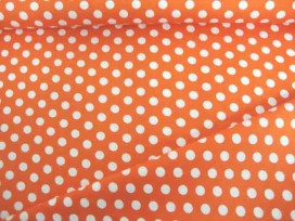 Middelstip katoen Oranje/wit 5576-36N