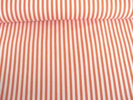 Lengtestreep katoen Oranje/wit 5574-36N