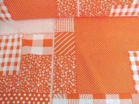 5n Boerenbont Patchwork Oranje 5634-36N