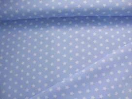 Sterretje katoen Lichtblauw/wit 1266-2N