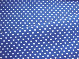 Mini hartje katoen Blauw/wit 1264-5N