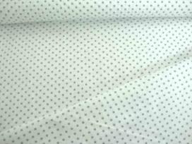 Mini stip katoen Wit/grijs 5579-61N