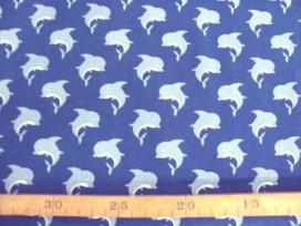 Kinderkatoen Donkerblauw met grijze Dolfijn 3204-08N