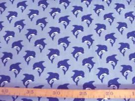 Kinderkatoen Grijs met marine Dolfijn 3204-63N