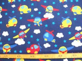 5d Kinderkatoen Donkerblauw met helikopters 3201-08N