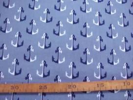 4y Kinderkatoen Grijs met wit/marine ankers 3205-63N