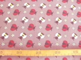 6p Dapper poplin Taupe met wesp en lieveheersbeest 2479-54N