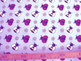 6o Dapper poplin Lichtblauw met wesp en lieveheersbeest 2479-03N
