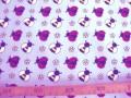 Dapper poplin katoen Lichtblauw met wesp en lieveheersbeest 2479-03N