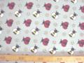 Dapper poplin katoen Grijs met wesp en lieveheersbeest 2479-62N