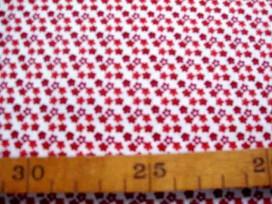 5c Dapper Quilt 3 Mini fleur Wit/Warmrood 3230-115N