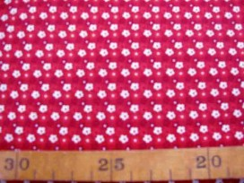 5d Dapper Quilt 4 Mini fleur Warmrood/Wit 3230-15N