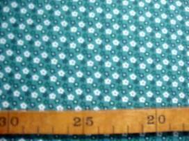 Dapper Quilt 4 Mini fleur Oudgroen/Wit 3230-23N