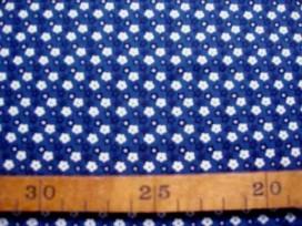 5n Dapper Quilt 4 Mini fleur Oudblauw/Wit 3230-08N