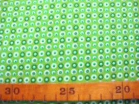 Dapper Quilt 2 Mini cirkels Lime 3231-25N