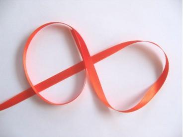 Oranje satijnlint satijnlint dubbelzijdig van 8 mm. breed.