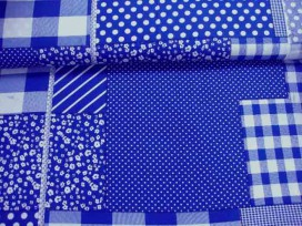 Boerenbont Patchwork Blauw 5634-5N