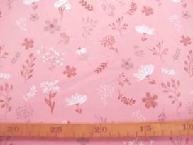 Oeko-Tex Kindertricot Oudroze met bloemprint 3693-13N
