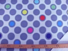 Softshell Lichtgrijs met cirkels 4139-61N
