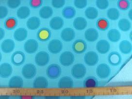 5i Softshell Mintgroen met cirkels 4139-22N