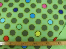 Softshell Limegroen met cirkels 4139-23N