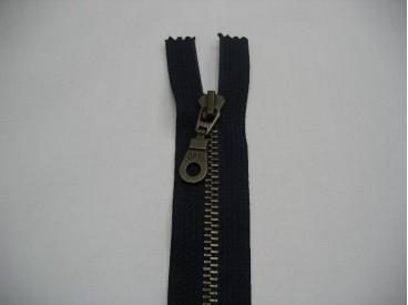 Antiek messingrits deelbaar donkerblauw 30 cm.
