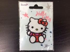 Hello Kitty Zittend zwaaiend