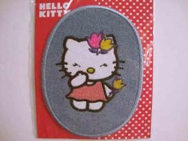 Hello Kitty Ovaal Jeans Staand met roze jurk