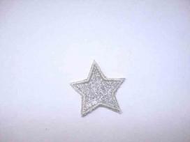 Glitter ster Zilver klein 1400z