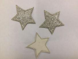 Glitter ster Zilver groot 1401z