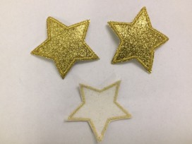 Glitter ster Goud groot 1402g