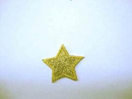 Glitter ster Goud klein 1403g