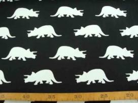 4u Tricot Oeko-Tex Dinosaurus Zwart/wit 9828-69N