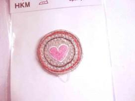 Cirkel applicatie cirkels met roze hart
