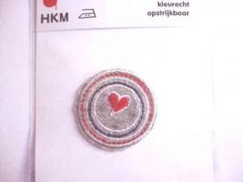 Cirkel applicatie cirkels met rood hart