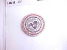 Applicatie cirkel Cirkel paars BB ruit met glitterster