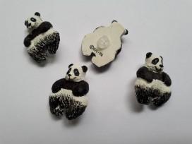 Panda knoop. Een kunststof pandaknoop. Afmeting: 27x21 mm.