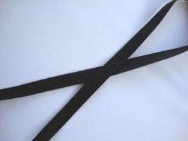 Keperband Zwart 10 mm breed.