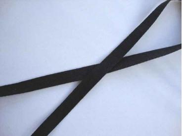 Keperband Zwart 1cm breed. 1001