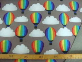 Softshell Taupe met luchtballon en wolk 4137-54N