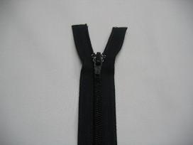 1k Deelbare rijne rits donkerblauw 35 cm.