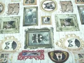 Decoratiestof Digital Dieren fotolijstjes 1216-51N