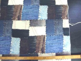 Decoratiestof Digital Jeans patchwork 1236-08N