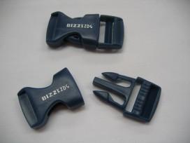 Insteekgesp Bizzkids tassluiting van kunststof  Blauwe kleine insteekgesp.  Voor 20 mm band  23x50mm