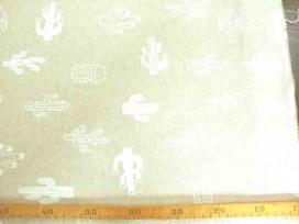 Decoratiestof linnenlook Cactus 1279-51N