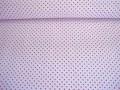 Mini stip katoen Wit/pink 8211