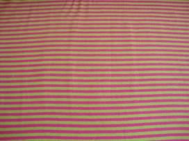 Tricot Ton sur ton Streepjes Lime/pink 3993-23N