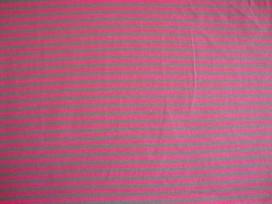 Tricot Ton sur ton Streepjes Grijs/pink 3993-17N
