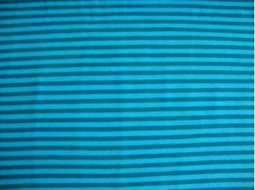 5d Tricot N Ton sur ton Streepjes Aqua/petrol 3993-24N