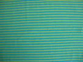Tricot Ton sur ton Streepjes Lime/aqua 3993-4N